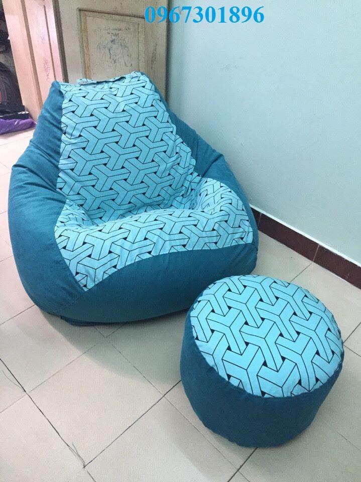 Bộ ghế lười hạt xốp hình quả lê -2