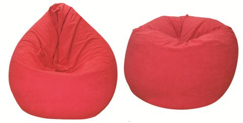 Ghế lười hạt xốp hình quả lê màu đỏ