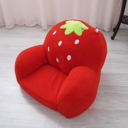 Ghế lười nhồi bông hình dâu tây -4