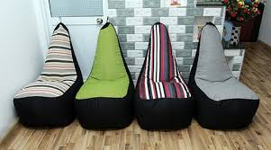 Ghế lười hạt xốp hình sofa - 4