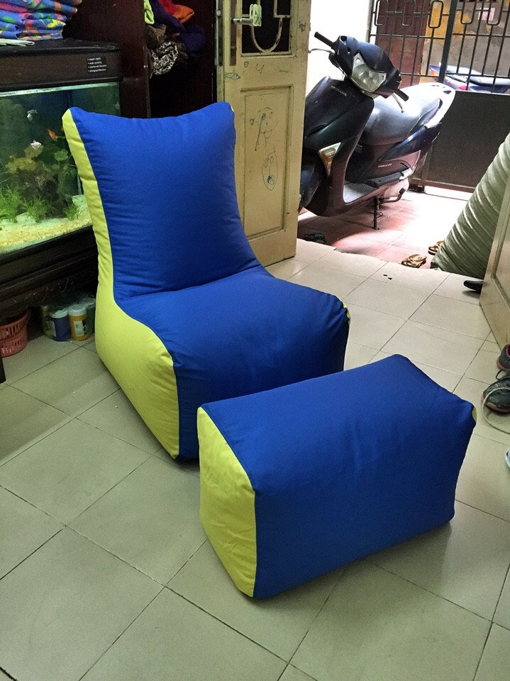 ghế lười hạt xốp dáng sofa F2