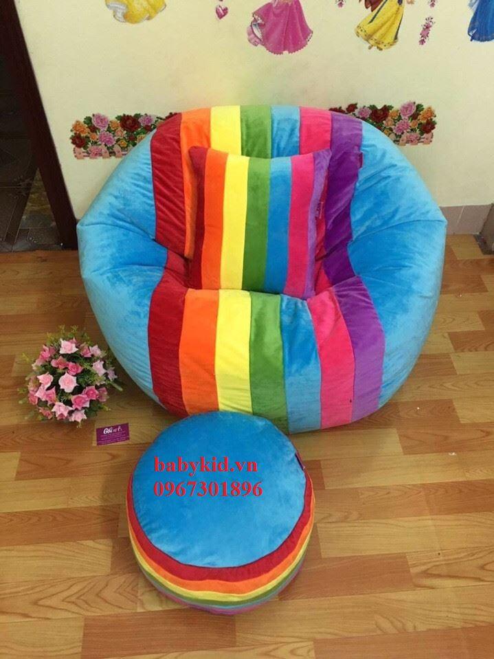 ghế lười hạt xốp hình tròn T3 1