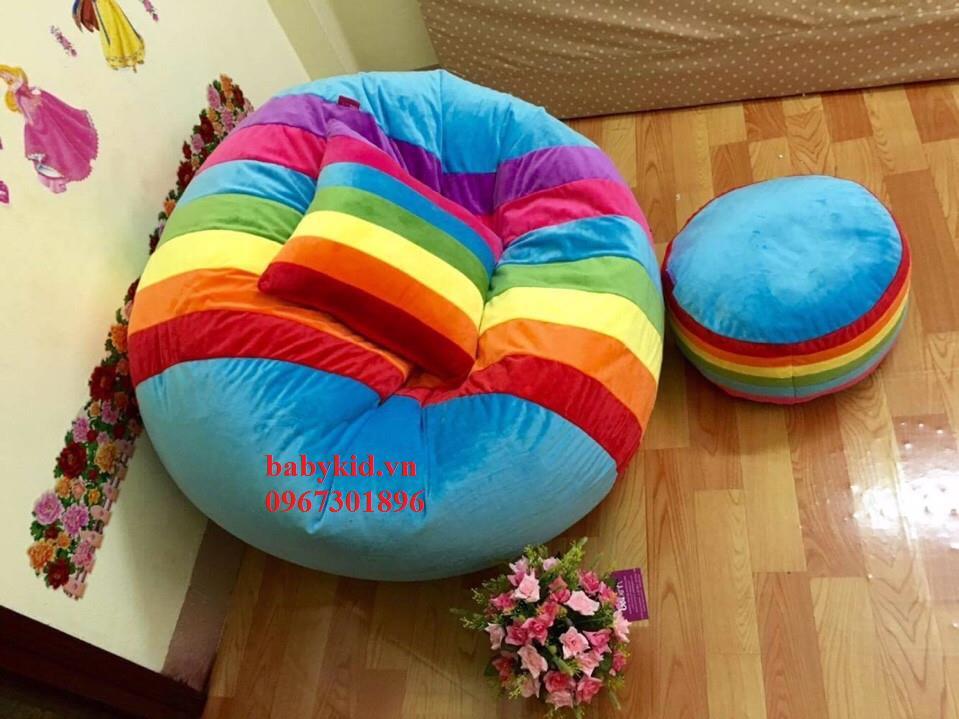 ghế lười hạt xốp hình tròn T3 2