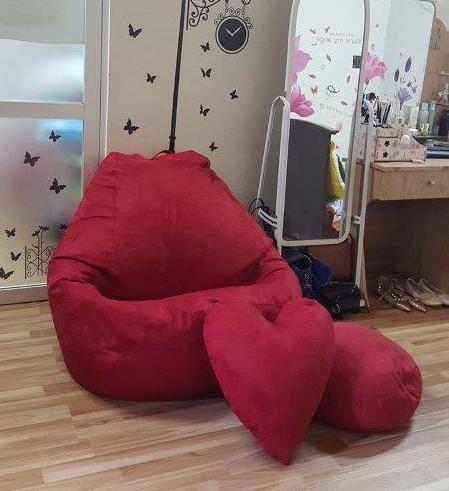 Ghế lười hạt xốp hình quả lê L09 màu đỏ