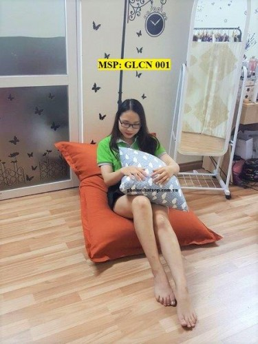 Ghế lười hạt xốp chữ nhật kaki GLT 001 (S)