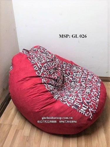 Ghế lười hạt xốp dáng lê màu đỏ GL 026 L (3)