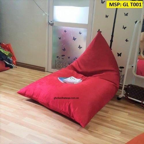 Ghế hạt xốp dáng thuyền đỏ GL T001 (L) (7)