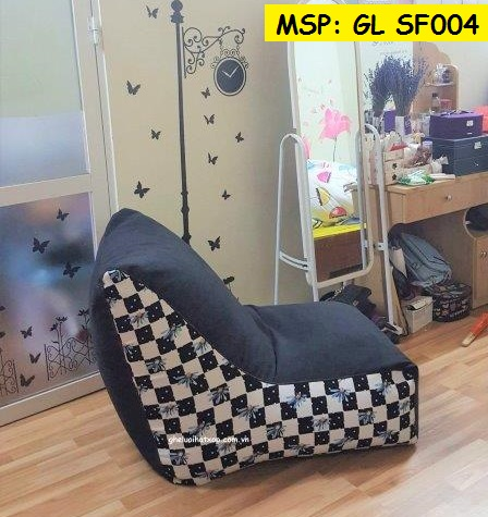 Ghế hạt xốp dáng sofa cotton pha GL SF004 (2)