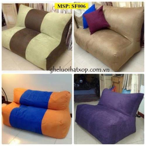 Ghế lười hạt xốp dáng sofa đôi (1)
