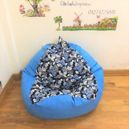 Ghế lười xốp quả lê xanh họa tiết GL L072 (5)