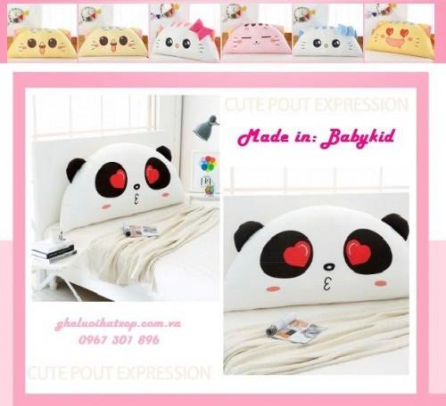 Gối tựa đầu giường Panda Love dễ thương GĐ011 (2)