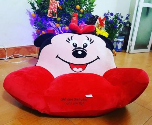 Ghế lười hình thú bành bông Minie màu đỏ size S GL BB001 (5)