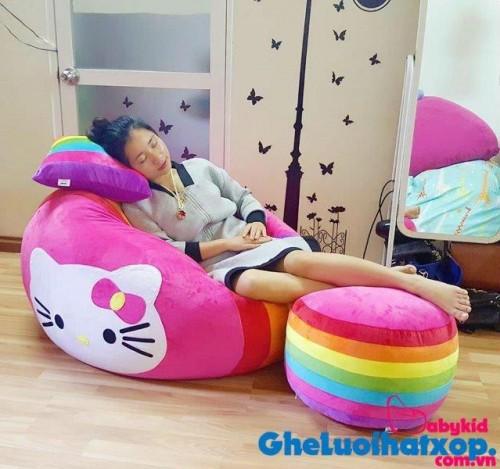 Ghế lười hình tròn phối 7 màu - Kitty GL T093 (1)
