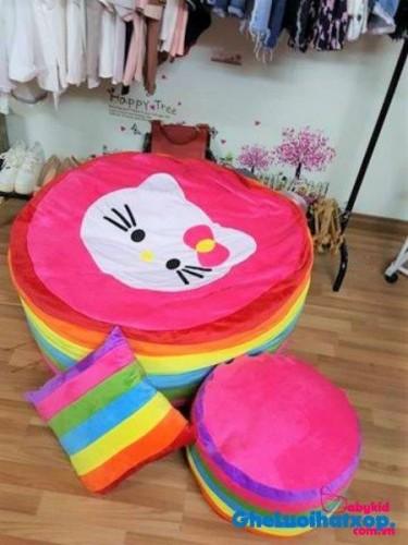 Ghế lười hình tròn phối 7 màu - Kitty GL T093 (5)