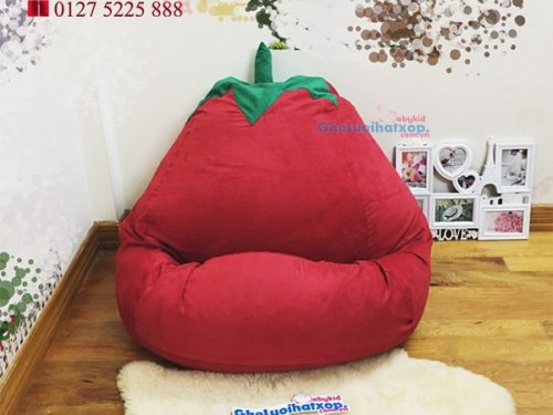 ghế lười hạt xốp hình quả cà chua