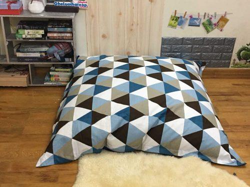 Gối lười xốp hình chữ nhật tam giác xanh GL CN002 (7)