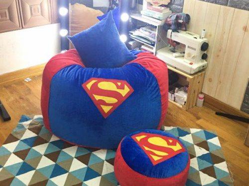 Ghế lười dáng lê vỏ nhung hình Super-man GL L202 (2)