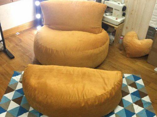 Ghế lười dáng sofa bán nguyệt vàng GL SF021 (5)