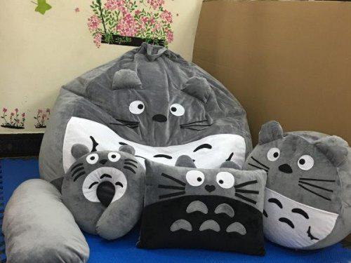 Ghế lười hình thú Totoro xám GL L211 (13)