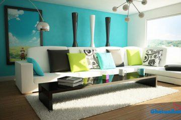 Làm thế nào để phối màu chất phát ngất cho phòng khách