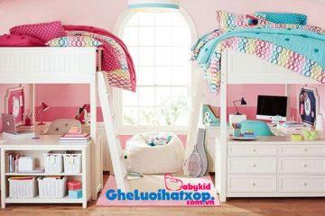 Kết hợp giường tầng & ghế lười – Tiết kiệm không gian phòng ngủ cho bé