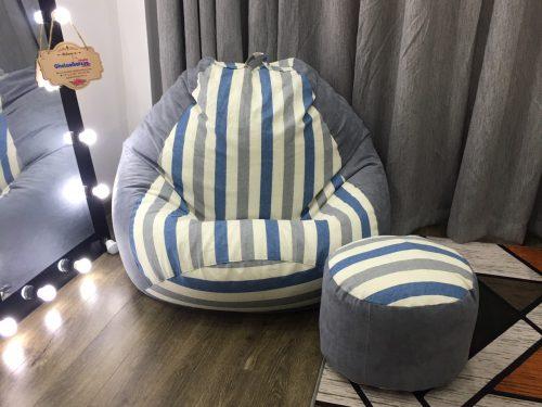 ghế lười Babykid kẻ sọc xanh mix xám GL L062 (12)