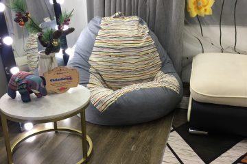 5 mẫu ghế lười hạt xốp hoạ tiết kẻ trang trọng, lịch sự