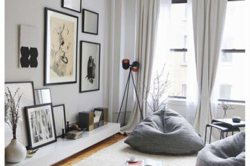 Gợi ý decor cho phòng khách cùng ghế lười hạt xốp