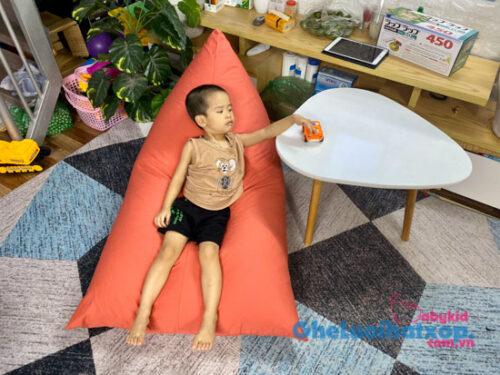Ghế lười dáng thuyền vải kaki chun cam GL T010 ( M ) (3)